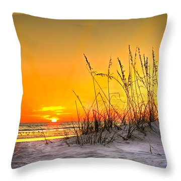 Gulf Sunset Throw Pillow by Marvin Spates