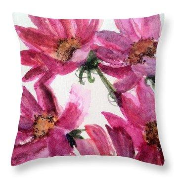 Gull Lake's Flowers Throw Pillow