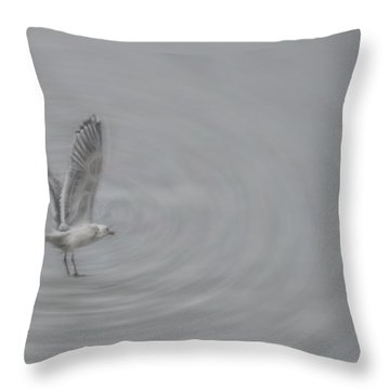 Gull Vortex Throw Pillow