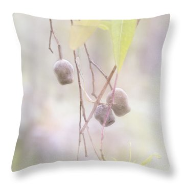 Throw Pillow featuring the photograph Gum Nuts by Elaine Teague