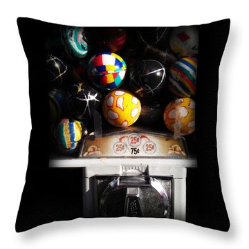 Series - Gumball Memories 1 - Iconic New York City Throw Pillow by Miriam Danar