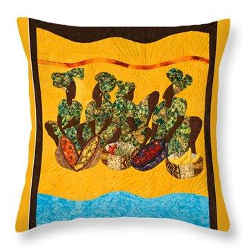 Gumbo Ladies Throw Pillow by Aisha Lumumba