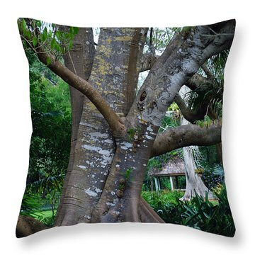 Gumby Tree Throw Pillow by Judy Wolinsky