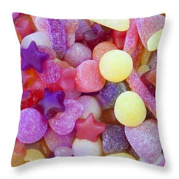 Gumdrops Throw Pillow by Alixandra Mullins