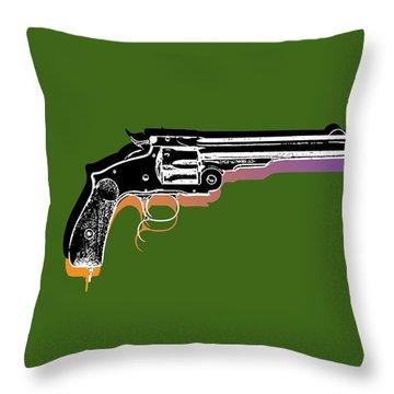 Gun 3 Throw Pillow