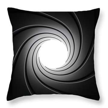 Gun Barrel From Inside Throw Pillow