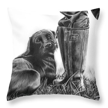 Gun Dog Throw Pillow