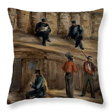 Gunners Of The Royal Regiment Throw Pillow