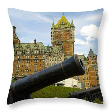 Guns On The Terrasse Duferinn Throw Pillow