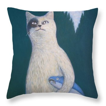 Gunter And His Pet Fish Klaus Throw Pillow