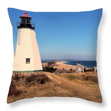 Gurnet Lighthouse Throw Pillow