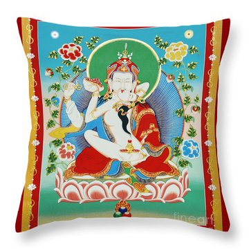 Guru Rinpoche Yab Yum Throw Pillow