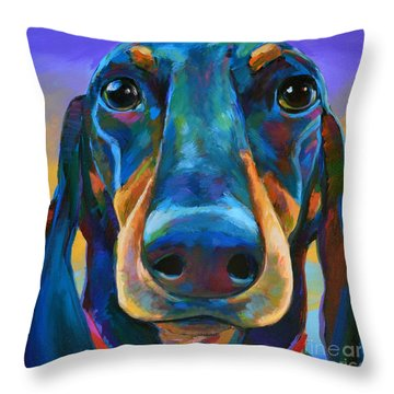 Throw Pillow featuring the painting Gus by Robert Phelps