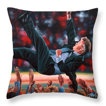 Guus Hiddink Throw Pillow