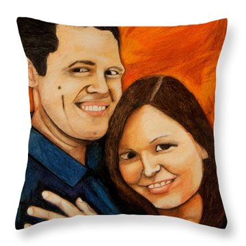 Guy And Bridget Throw Pillow