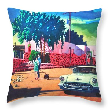 Guys Dolls And Pink Adobe Throw Pillow