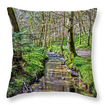 Gweek Woods Throw Pillow