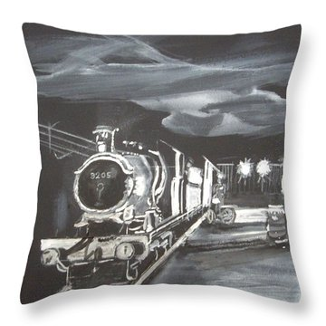 Gwr God's Wonderful Railway No 3205 Throw Pillow by Carole Robins
