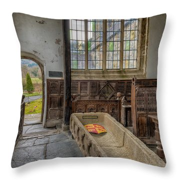 Gwydir Chapel Throw Pillow by Adrian Evans