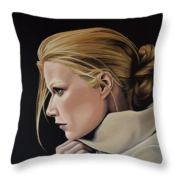 Gwyneth Paltrow Painting Throw Pillow