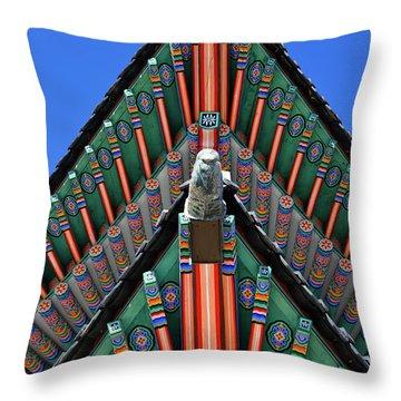 Gyeongbokgung Palace, Palace Of Shining Throw Pillow