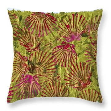 Gyotaku Scallops - Christmas Bushel - Holiday Shellfish Throw Pillow