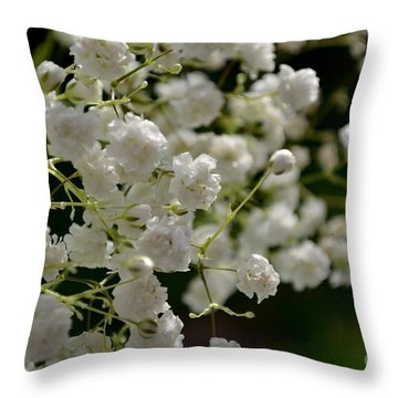 Gypsophilia Throw Pillow