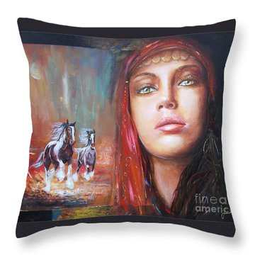 Gypsy Beauty Throw Pillow