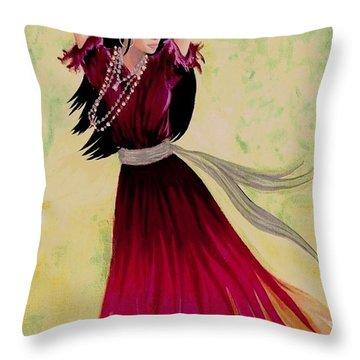 Gypsy Dancer Throw Pillow by Sophia Schmierer