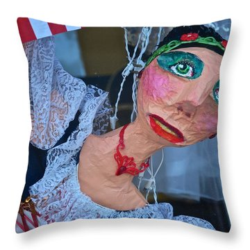 Gypsy Doll Throw Pillow