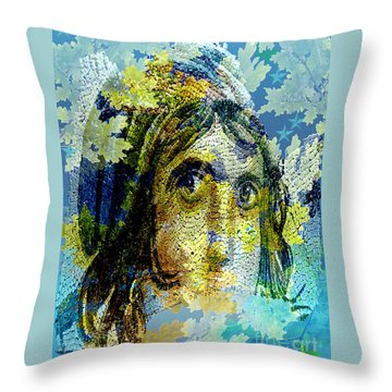 Gypsy Girl Mosaic Throw Pillow