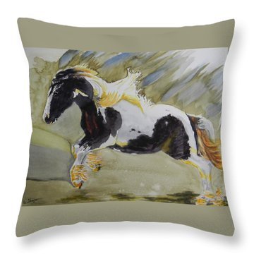 Gypsy Princess Throw Pillow by Warren Thompson