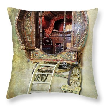 Gypsy Wagon Throw Pillow