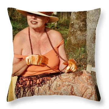Gypsy Waiting Throw Pillow by VLee Watson