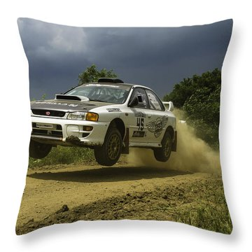 Gzb Rally Team In Flight Throw Pillow