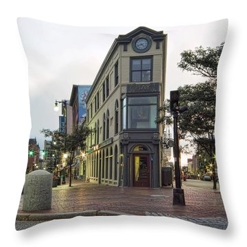 Throw Pillow featuring the photograph H H Hay Building  Portland Maine by Richard Bean