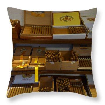 Habanas Cohibas Diplomaticos Throw Pillow by Ken Brannen