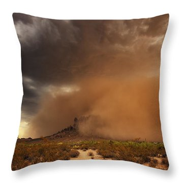 Haboob Is Coming Throw Pillow by Rick Furmanek