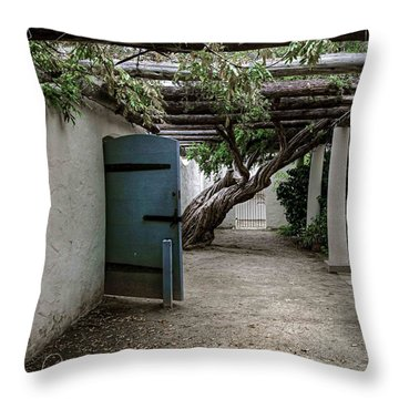 Throw Pillow featuring the photograph Hacienda Courtyard by Kandy Hurley