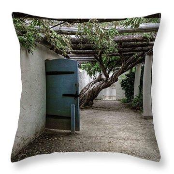 Hacienda Courtyard Throw Pillow by Kandy Hurley