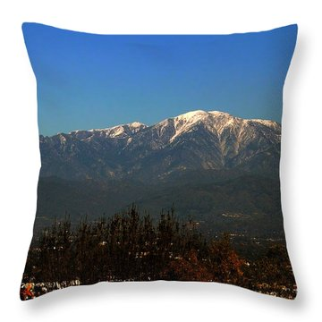 Throw Pillow featuring the photograph Hacienda Heights And Industry Overlook by Clayton Bruster