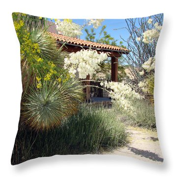 Throw Pillow featuring the photograph Hacienda by Linda Cox