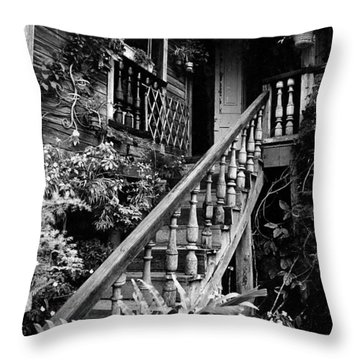 Hacienda Stairway Throw Pillow