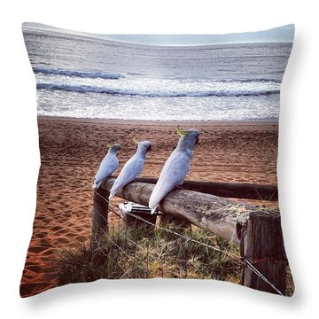 Hangin' Out Throw Pillow