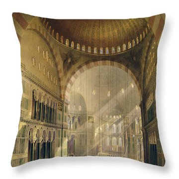 Haghia Sophia, Plate 24 Interior Throw Pillow by Gaspard Fossati