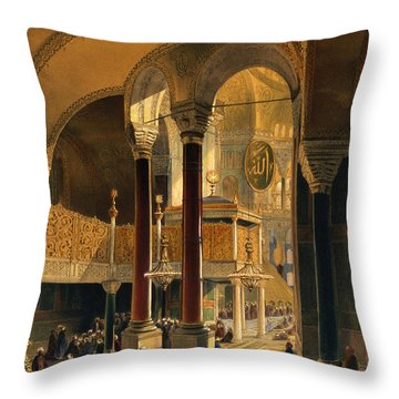 Haghia Sophia, Plate 8 The Imperial Throw Pillow by Gaspard Fossati