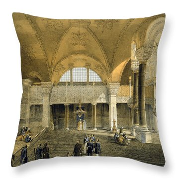 Haghia Sophia, Plate 9 The New Imperial Throw Pillow by Gaspard Fossati