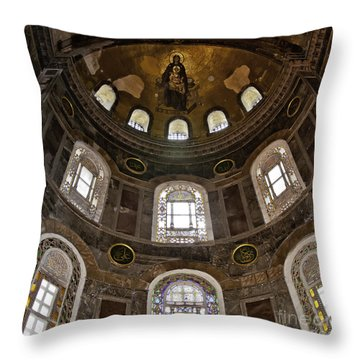 Hagia Sofia Interior 06 Throw Pillow by Antony McAulay