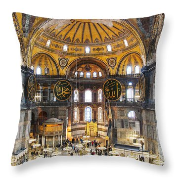 Hagia Sofia Interior 35 Throw Pillow by Antony McAulay