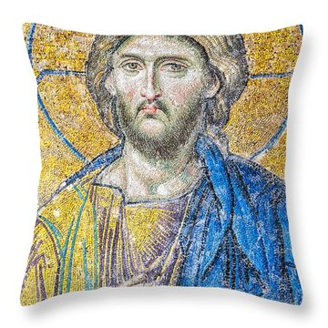 Hagia Sofia Jesus Mosaic Throw Pillow